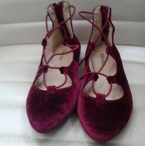 Fab & Fuschia Girls Ballerina Flats